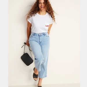 Old Navy 16, High Rise Wide Leg Crop Jeans